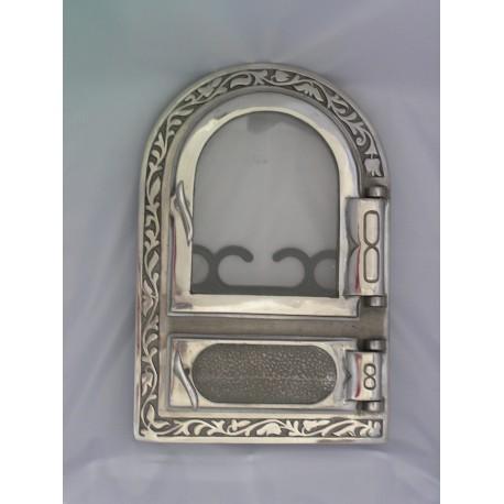 Drzwiczki hermetyczne z szybą niklowane